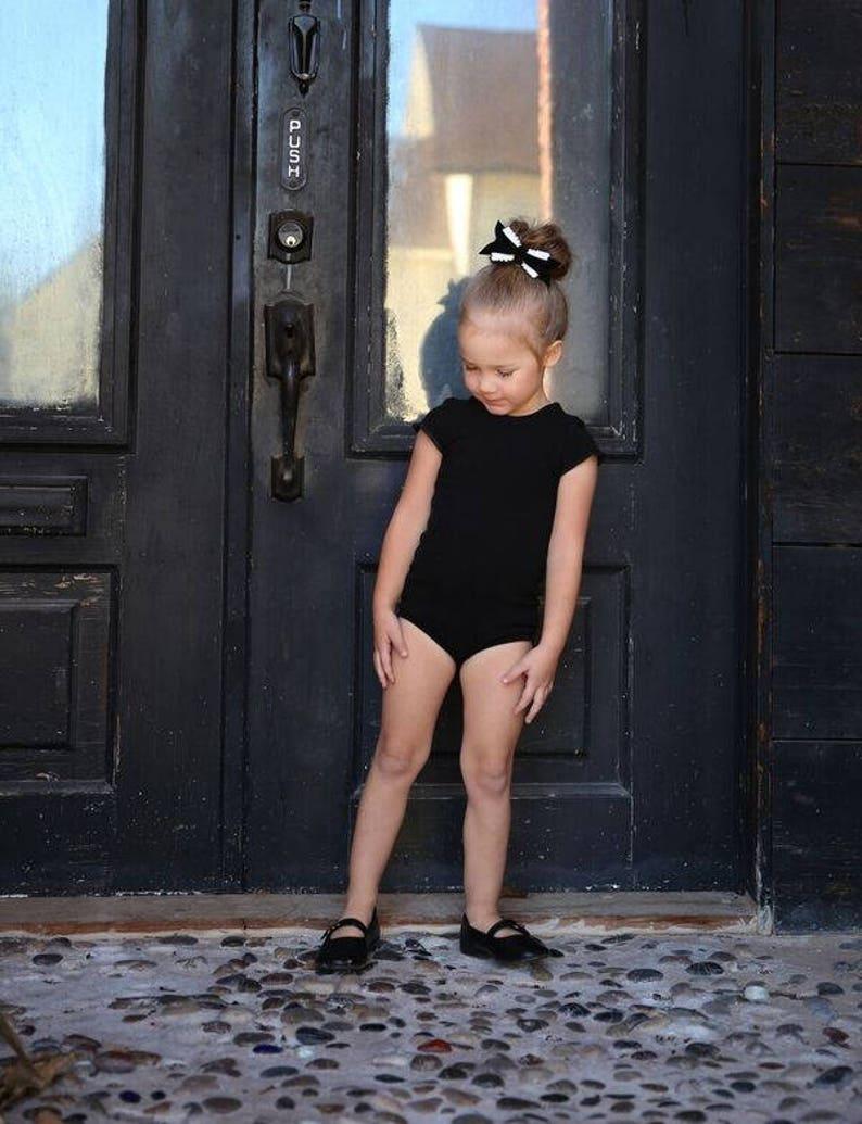 4ce53c769 Black Leotard Ballerina Bodysuit Baby Leotard Toddler Leo