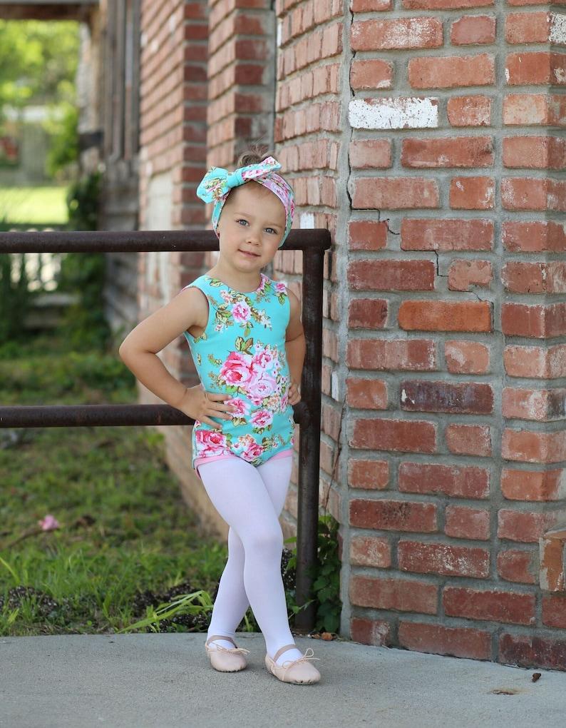 d79c7e2db Floral Leotard Girls Leotard Ballerina Bodysuit Baby