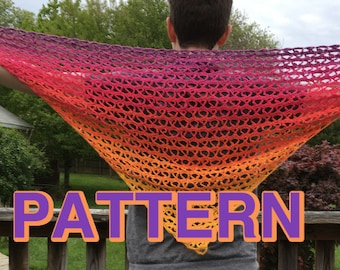 Hugs and Kisses Shawl Crochet Pattern - PDF download
