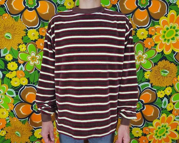 Vintage Sweater / 1970s 70s / Striped Stripes / Re