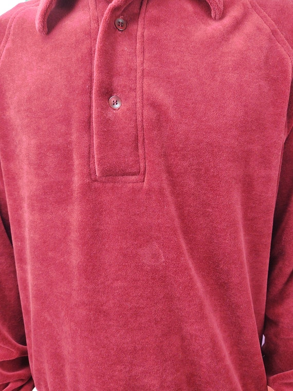 Vintage Sweater / 1980s 80s / 1970s 70s / Red / P… - image 2