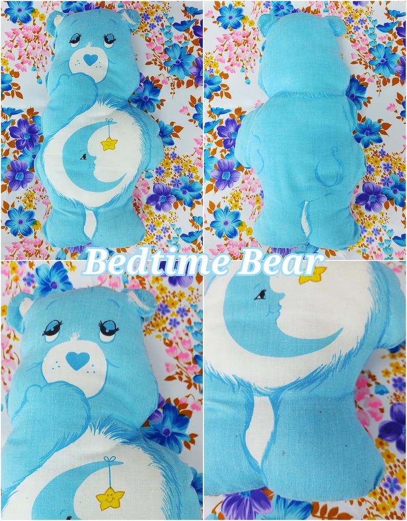 Vintage Care Bear Pillow  Retro Cut Out Care Bears Stuffed Animal  Handmade Pillow  1980s 80s  Decorative Pillow