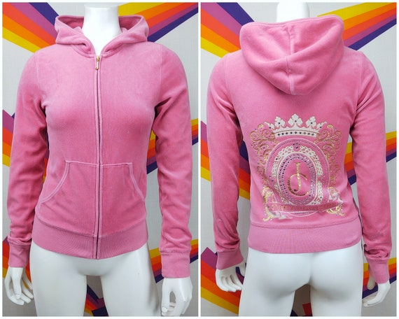 Vintage JUICY COUTURE Velour Hoodie / 1990s 90s Y2