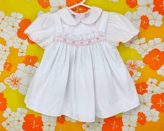 Vintage Baby Dress Set  Vintage Toddler Dress Matching Bloomers Shorts  Pink Dress  Lace Baby Dress  2T 24M 24 Months