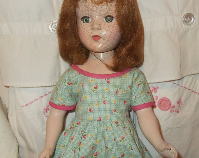 Vintage 50's American Character Sweet Sue Hard Plastic Green Sleep Eyes Walker Doll Toy