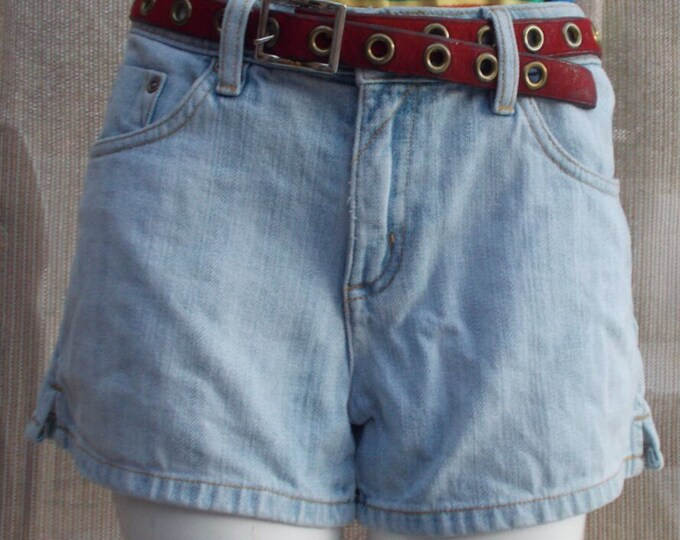 Vintage 90's Junior Arizona Jeans High Waisted Distressed Blue Jean Denim Shorts
