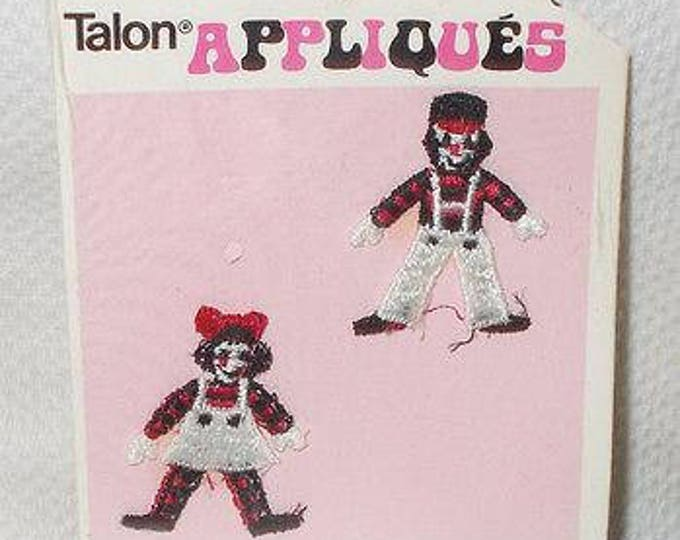 Vintage 70s 1973 100% Rayon Toy Boy Girl Soldiers #D7111 Talon Appliques Sew-on Patches