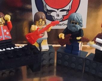 d41f38910499 Grateful Dead Gift Jerry Garcia FREE sticker CUSTOM made of Lego bricks  Magnet Ornament Lesh Bob Weir NOT a t shirt pin hat patch Dead and C