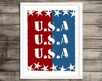 USA, United States of America, Patriotic, 4th of July, Military Family, Wife, Deployment Gift, Military Printable, American Flag