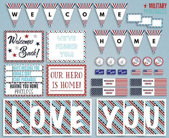 military homecoming printable welcome home military etsy