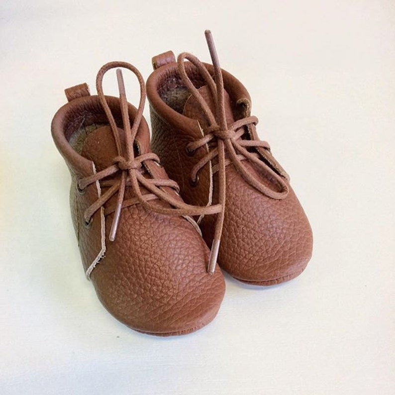 69bf97f7061b7 Choose color Brown booties with shoelacesnewborn infant | Etsy