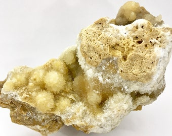 RARE - Enormous Strontianocalcite - Cluster of Gold-Creme Colored Fluorescent and Phosphorescent Strontianite-Calcite Pseudomorph from Texas