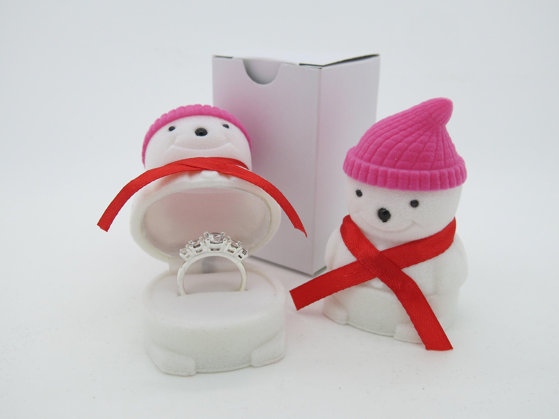 Snowman Ring Box Xmas Gift Box Case Stud Earrings Jewellery Etc