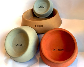 Small Concrete Pet Bowls