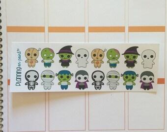 Halloween Monster Zombie Planner Stickers!