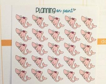 Pink Shark Tracker Planner Stickers!