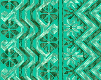 Per 1//4... Amy Butler Bright Heart Passionate Papaya Cosmo Weave Cotton Fabric
