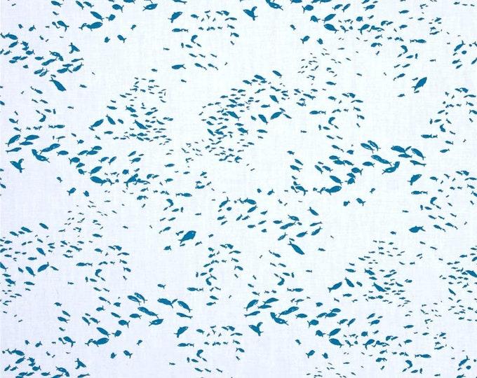 Art Gallery Fabrics Fish Scholeio Priced Per Yard Intense Katarina Roccella Skopelos