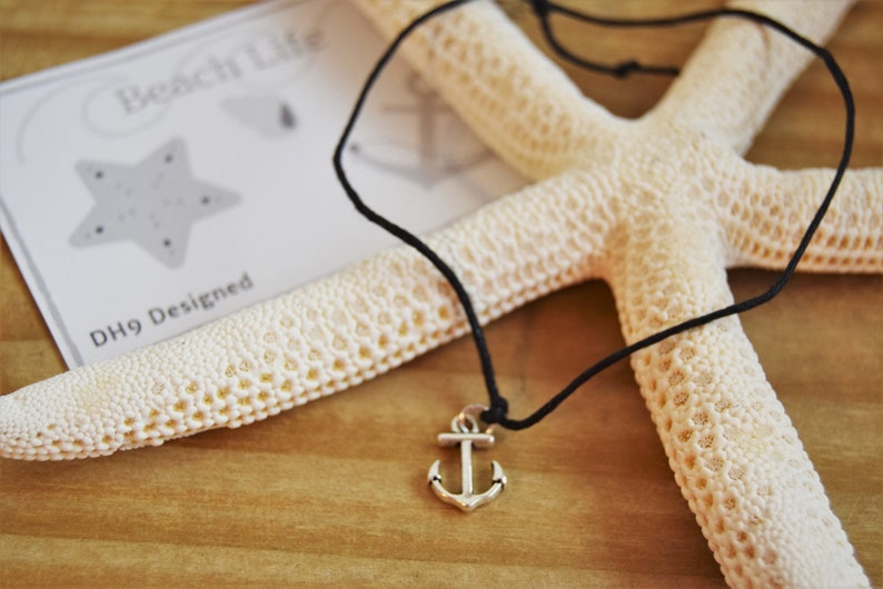 Made to Order Friendship Anklet Silver Charm Anklet Gift For Friend Anchor Anklet Cord Anklet