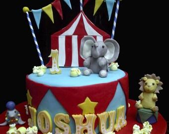 Custom Circus Carnival Edible Cake Topper Set