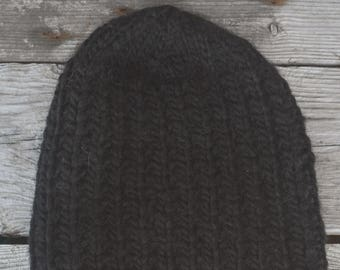 traditional ethical eco-friendly Alpaca and merinos black hat 80/% baby alpaca from Quebec hat refined style for woman teen teenager