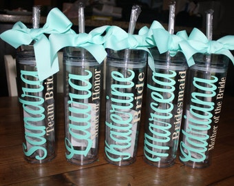 Personalized Tumbler, Bridesmaid Tumbler, Bridesmaid Gift, Wedding tumbler, Personalized Gift, Water bottle, Bridal, Bridesmaid Proposal