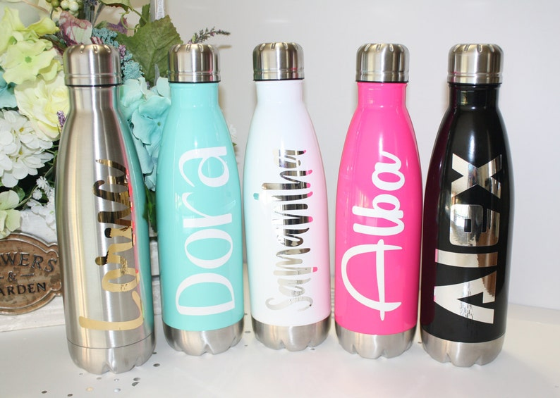 Personalized Stainless Steel Water Bottle 17 oz. Bridesmaid image 0