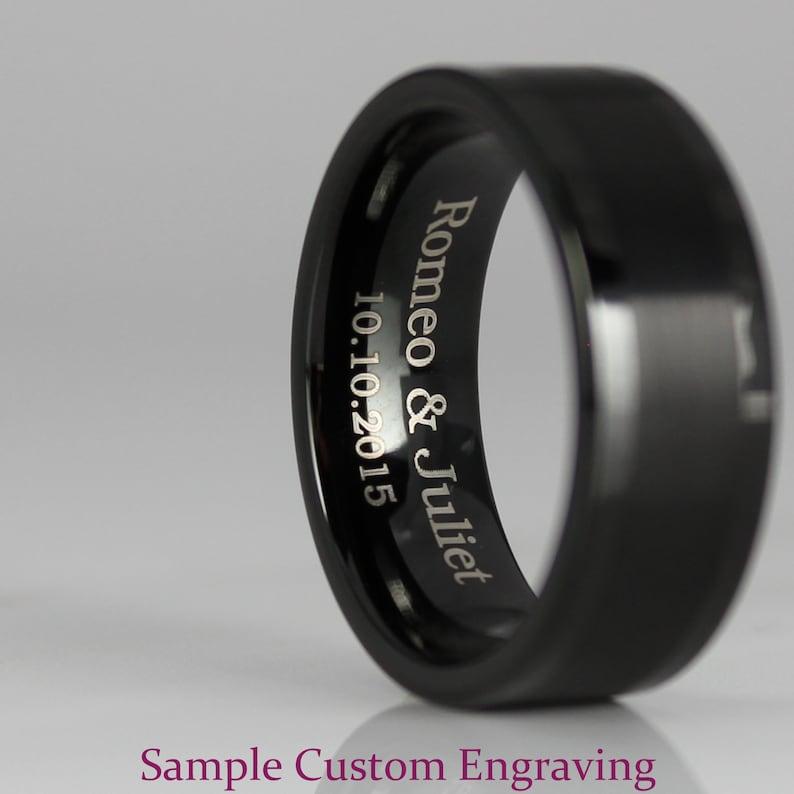 Stargate Earth Rings Stargate Jewelry Stargate Rings Black Wedding Rings Earth Rings Stargate Wedding Rings Stargate Wedding Bands