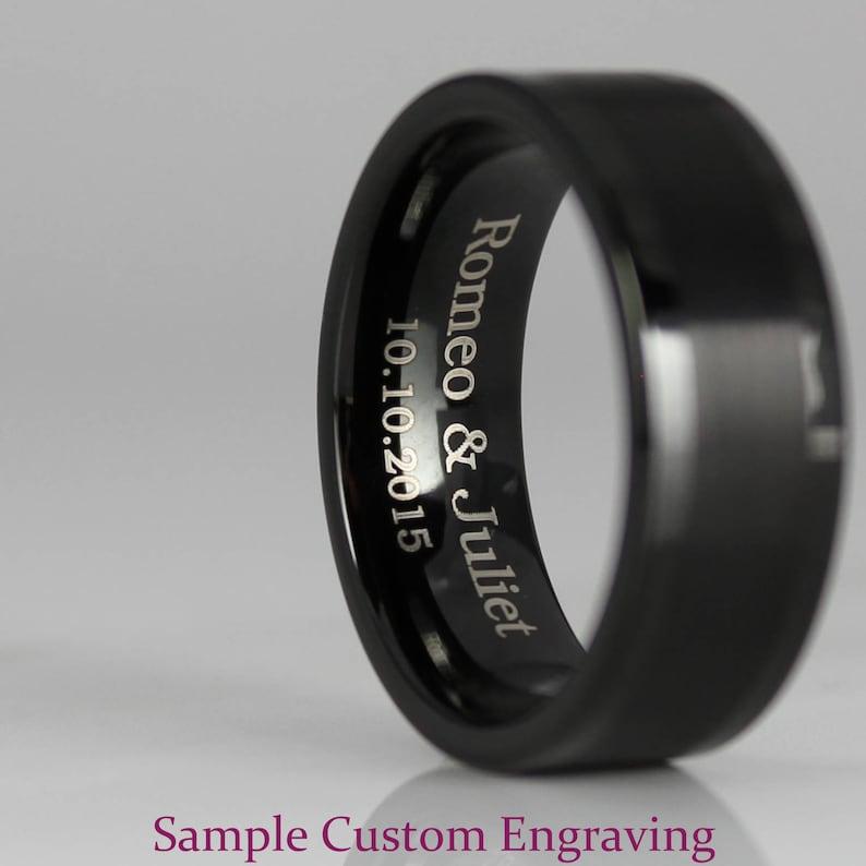 Red Tungsten Ring Black Tungsten Wedding Ring Red Tungsten Wedding Band Red Wedding Band Red Tungsten Wedding Ring Red Ring