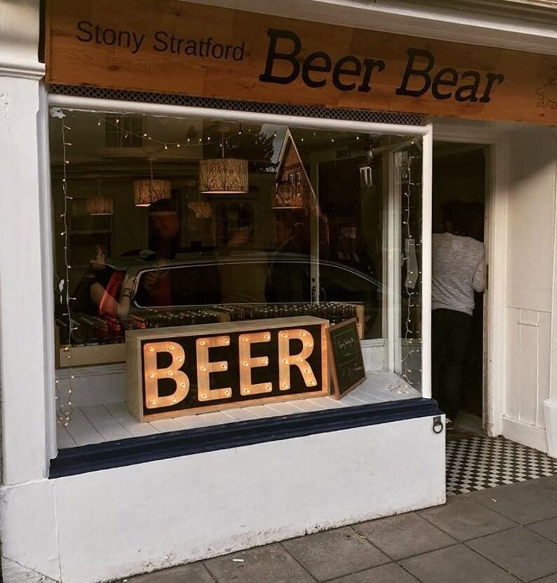 Shop front light up sign, light box, wooden les shop front sign