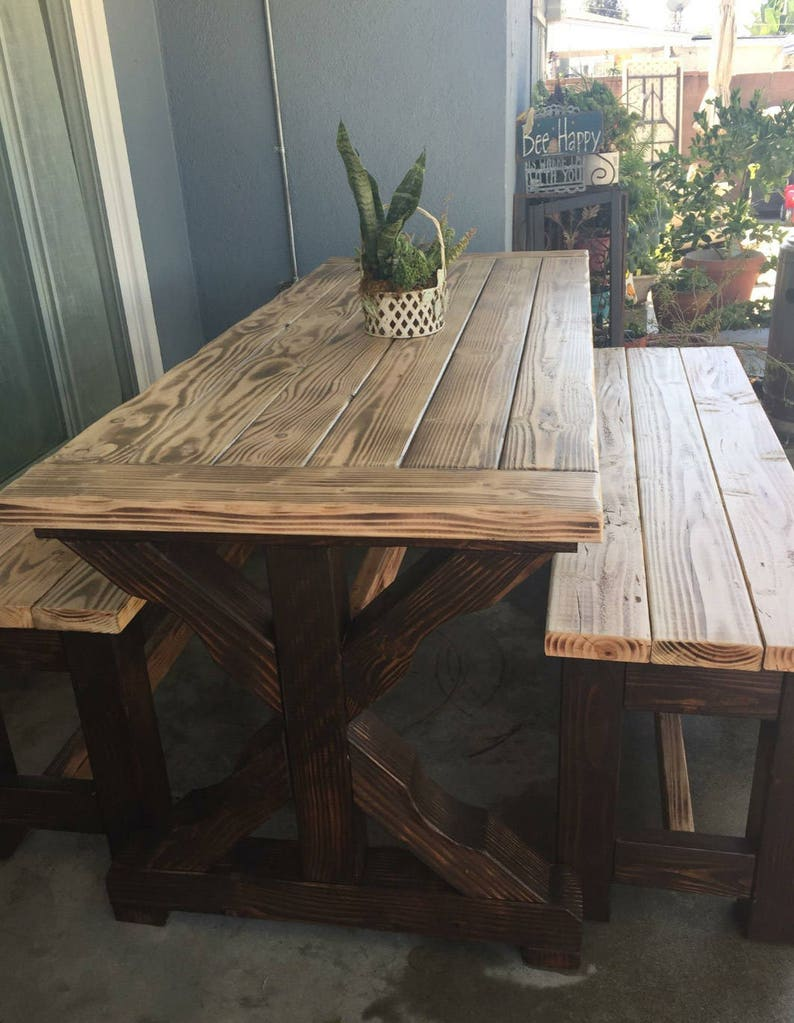 Rustic Patio Table Rustic Dining Table Rustic Table Etsy