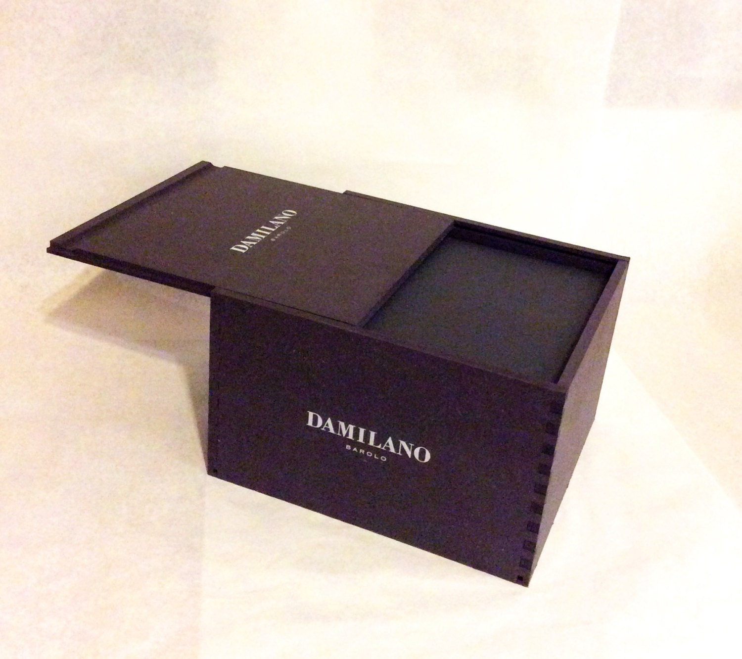 Wooden Wine Box  Damilano Sold By Bentbranchboutique