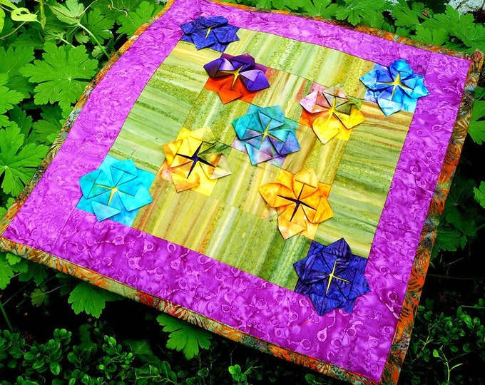 Featured listing image: Folding away - pdf quilt pattern and tutorial