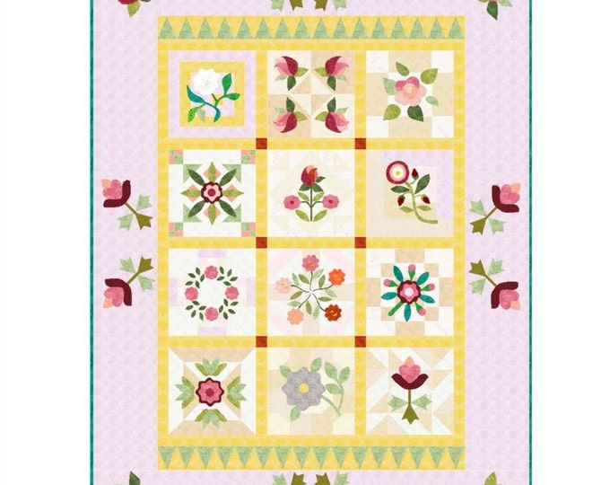 Featured listing image: RoseBOM 2019 - Country Rose Quilts - GERMAN Language only
