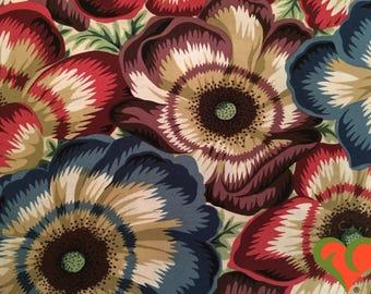 Kaffe Fassett Collective Philip Jacobs Waltzing Matilda Natural Fabric PJ22 Half Yard. Rare. OOP. VHTF. Retired.