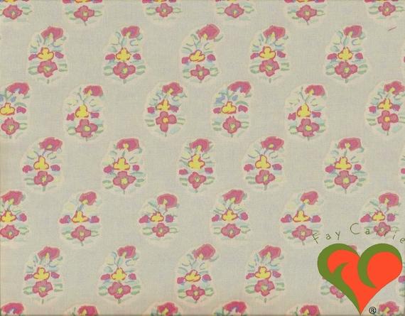Cuarto Gordo Libre P/&P, MAKOWER Lino textura roja R 100/% Tela De Algodón