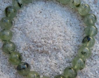 Friendship Bracelet E0756 PREHNITE Healing Crystal Geometry Beaded Bracelet