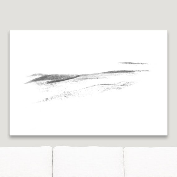 Abstract Painting In Black White Nature Wall Art Canvas Print Extra Large Modern Framed Home Decor Edgy Original Zen Minimalist Art Print
