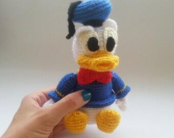 Crochet Donald Duck Etsy