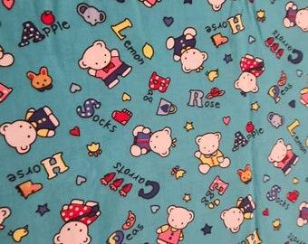 Childish fabric, cubs, alphabet