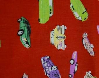 Vintage fabric, automobiles