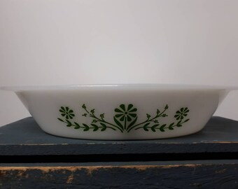 Two sectionsglasbake - Daisy days pattern - vintage dish