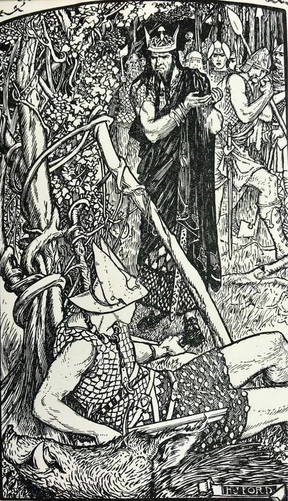 Andrew Lang /'The Book of Romance/' 1919 Original antique print