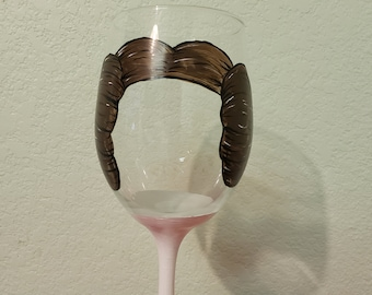 Princess Leia Wine Glass