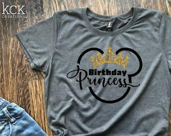 6f538f327fac90 Disney Birthday Princess   Disney Shirt   Disney Princess   Birthday  Princess Shirt   Princess Shirt   Disney Vacation Shirt   Matching Tee
