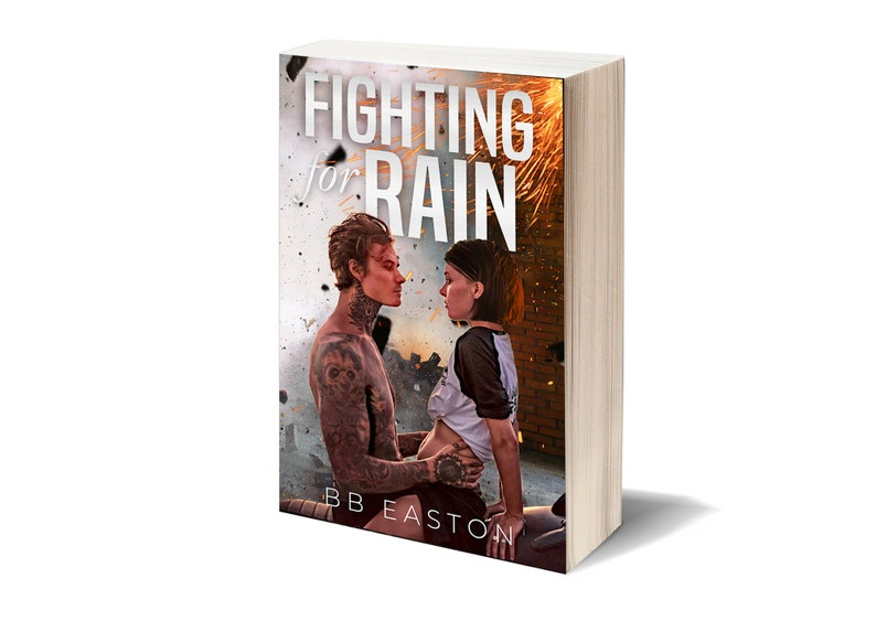 Signed 1st Edition Paperback of Fighting for Rain by BB Easton image 0
