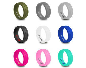 Silicone Ring Personalized Wedding Band Silicone Rubber Band Birthday Anniversary Christmas Gift Mother's Day