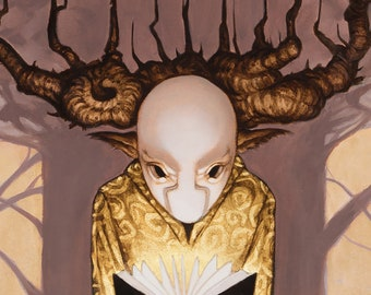 The Yellow King in Carcosa (original Painting)