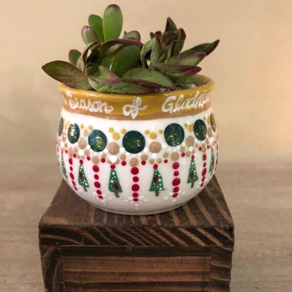 Christmas Succulent Planters.Succulent Planters For Christmas Succulent Pot Christmas Indoor Garden Idea Christmas Hostess Gift Gift For The Gardener Teacher Gift