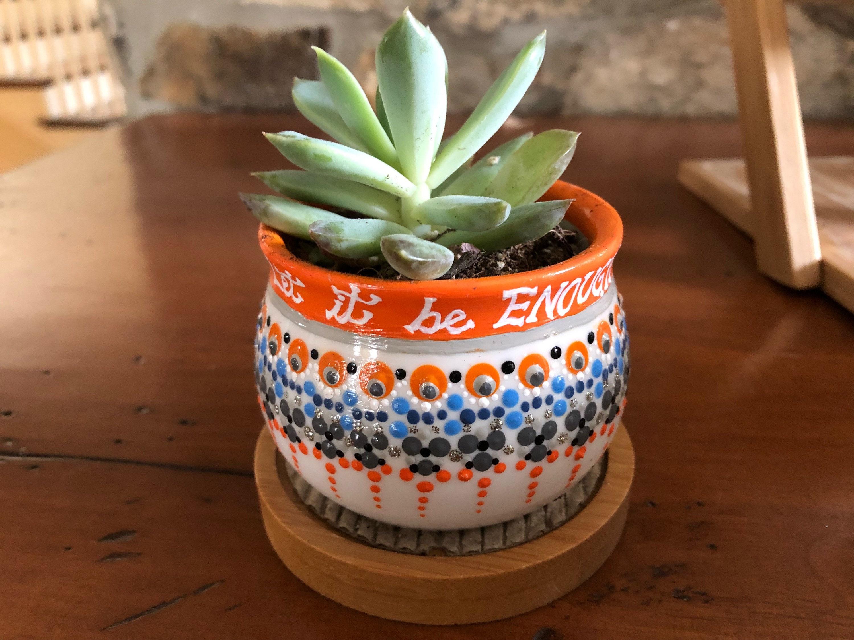 Single Succulent planter, indoor garden, plant pot with verse ...